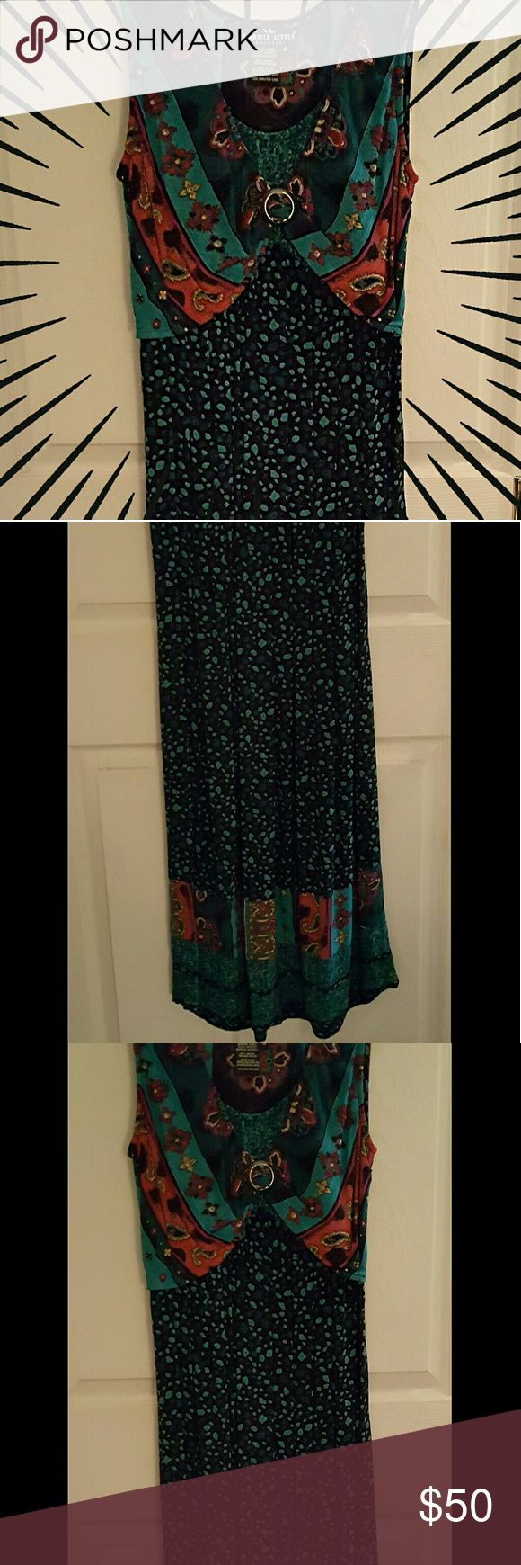 COLORFUL💖💚💙💜 BOHO MAXI DRESS💕💕 💖💚💙Festive & Fun, Flirty & Feminine & Bursting w/ Color! This dress likes to PARTY! Comfortable w/ flats, gladiator sandals or simply fabulous w/ strappies! It has a finished hem that shows the quality of work.?? It's time for YOU to woo her out of my closet. EUC. 💙💚💖 Carole Little Dresses Maxi