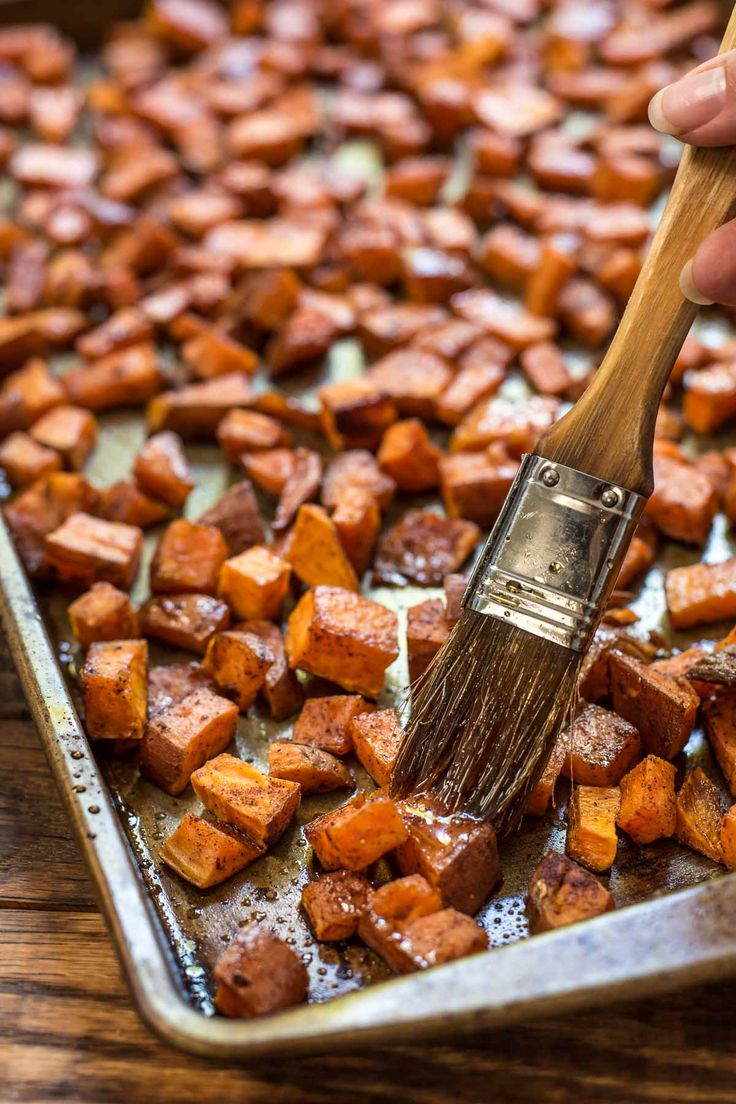 These Maple Roasted Sweet Potatoes are the easy side dish you'll want on your table all Autumn long.: