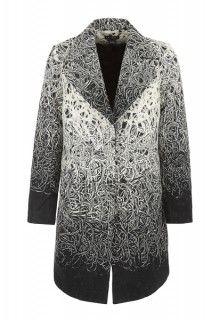 Lined Long Coat with Border (Cream) #tribalsportswear #fall2014 #fallfashion #fallstyle