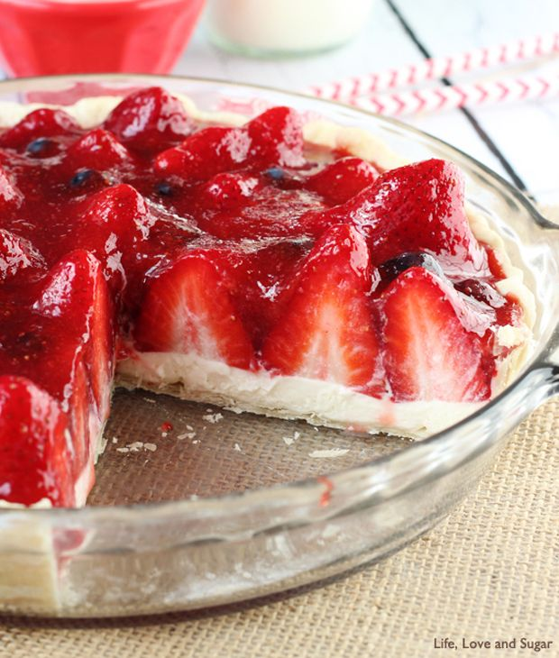 Strawberry-Cream-Pie Recipe - RecipeChart.com