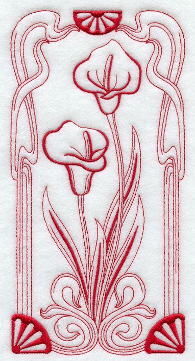 Art Nouveau Calla Lily (I think I'd rather have it in different colors)
