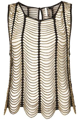 love this gold beaded macrame shell from topshop