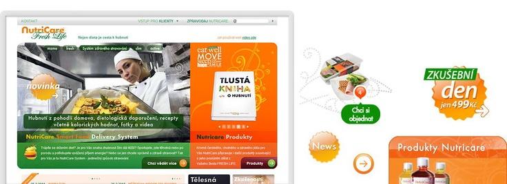 Webové stránky NutriCare od New Logic Studio