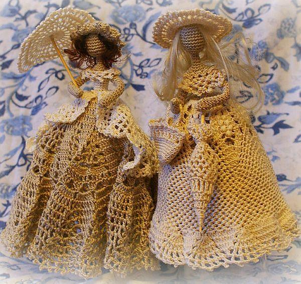Свадебный интернет магазин - В Плену Идей: Вязаные куколки леди | вязание | Постила
