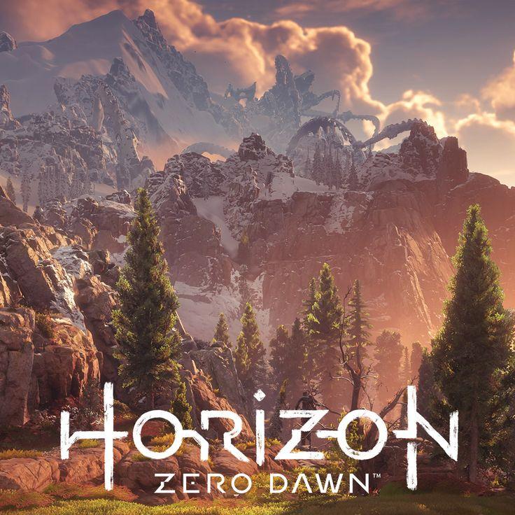 Horizon Zero Dawn - Mountain Landscapes, Lucas Bolt on ArtStation at https://www.artstation.com/artwork/WQgv2