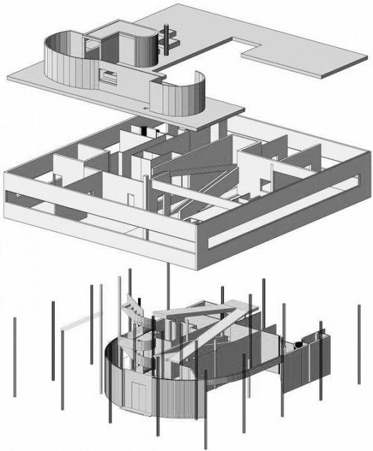 17 villa savoye plan pinterest for 5 points corbusier