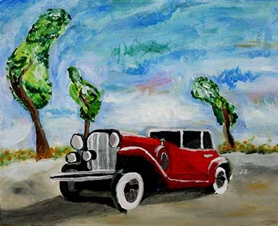 Acrylic Painting, Second Grade