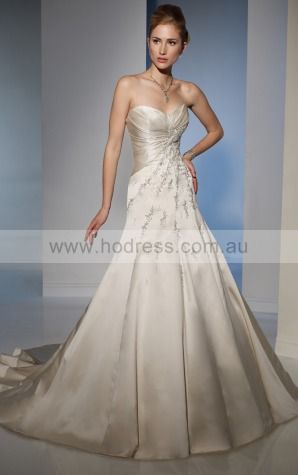 A-line Sleeveless Sweetheart Lace-up Floor-length Wedding Dresses feaf1088--Hodress