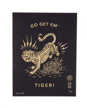 bcd57df71c Go Get Em Tiger Letterpress Print by Odds   Sods