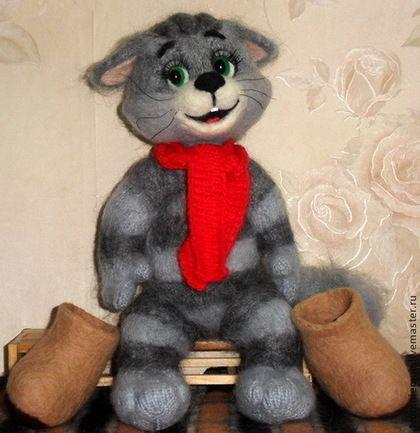 Куклы и игрушки ручной работы. Ярмарка Мастеров - ручная работа Вязаный спицами кот Матроскин. Handmade.