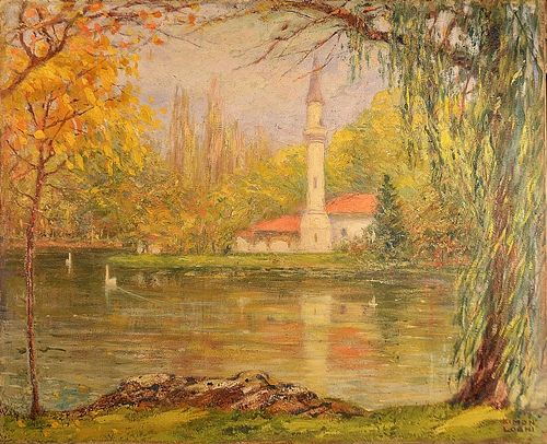 Kimon Loghi (1873-1952) Moscheea din parc/ The mosque in park