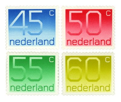 'Number Stamps' designed by Wim Crouwel (1976).