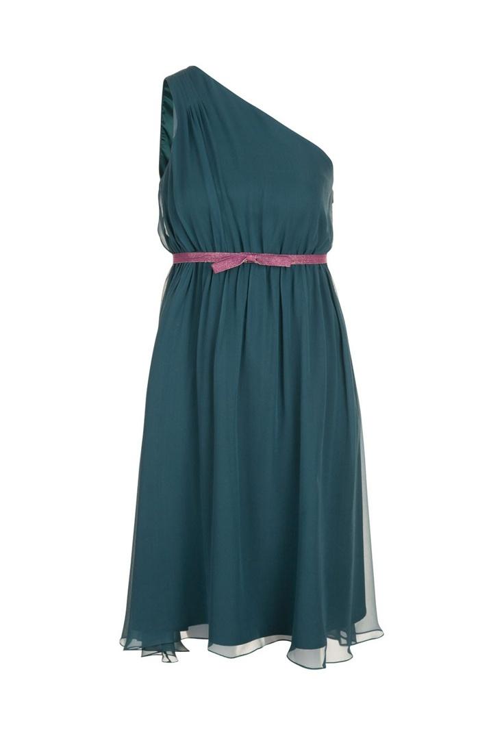 robe plissee asymetrique bleu petrole naf naf ropa With robe bleu pétrole