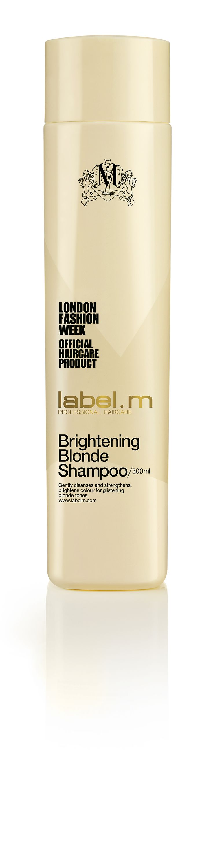 label.m Brightening Blonde Shampoo. Gradually lightens and brightens while gently cleansing and nourishing hair to prevent dryness, tangling and breakage. Contains natural extracts including White Pineapple, Mamaki Tea, and Lemon which activate the lightening process, enhance shine and freshen the scalp, without damaging or drying out hair.