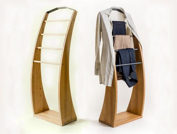Solid oak wood Clothes stand PLUTOO wooden by Studio3Sdesign