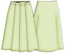 Выкройки юбок: юбка в складку