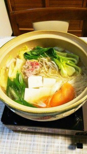 超簡単鍋(味噌ラーメンスープっぽい味)