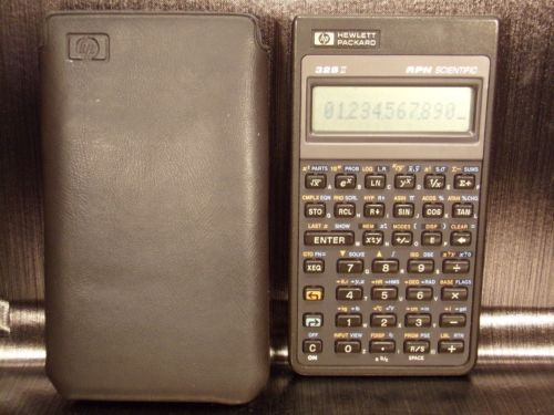 Calculatrice-calculator-HP-HEWLETT-PACKARD-32S-ll-RPN-SCIENTIFIC-1987