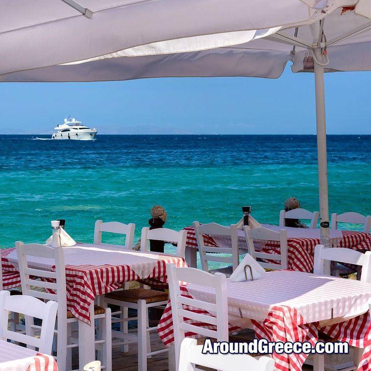Anyone up for a spot of lunch at this seaside taverna in Mykonos ?? #Mykonos #Greece #Greekislands #Cyclades #holidays #travel #vacations #aroundgreece #visitgreece #Μυκονος #Ελλαδα #ΕλλνηικαΝησια #διακοπες #ταξιδια