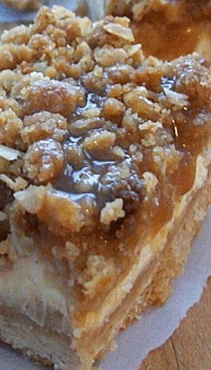 Caramel Apple Cheesecake Bars Inspired by Paula Deen