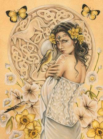 """Rhiannon was one of the Celtic Mythology`s most beloved goddesses, with a name meaning """"Queen,"""" and she was recognized as the goddess of the moon, inspiration, songbirds, and horses."""