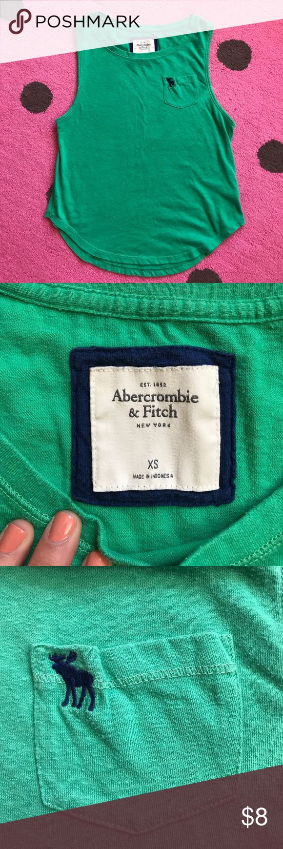 Green Abercrombie and Fitch Tank Super cute and worn a handful of times. Excellent condition-nothing wrong!! Please send offers 💛 fits a XS/S Abercrombie & Fitch Tops Tank Tops