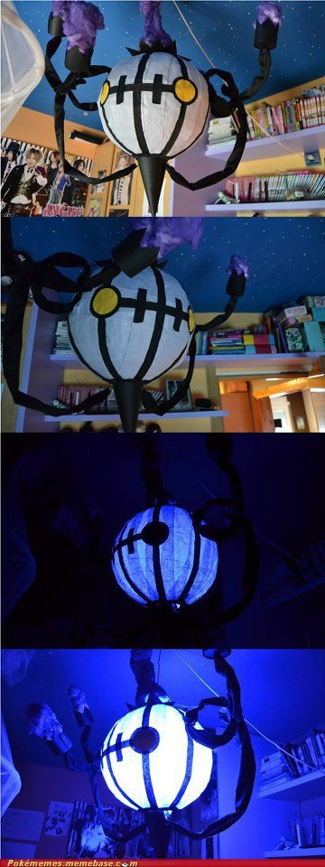 Yo dawg, I heard you liked Chandelure so I made a Chandelure chandelier for ya.