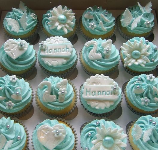 black Giant Cupcake | 21st Birthday Cupcakes with mini shoes, handbags, flowers, butterflies ...