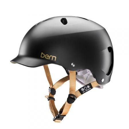 CASQUE VELO - BERN - LENOX EPS SATIN NOIR Joli design, grand confort, sécurité absolue.