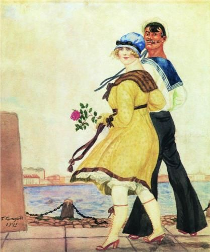 Sailor and His Girl - Boris Kustodiev. Russia.