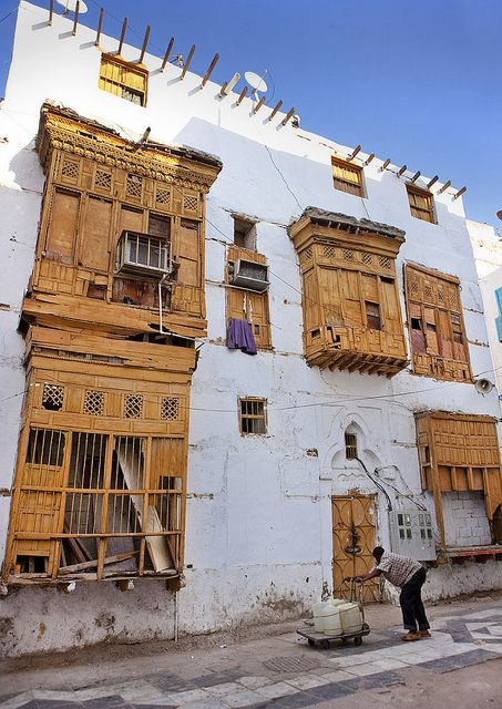 Old ottoman house Moucharabiah in Jeddah - Saudi Arabia by Eric Lafforgue, via Flickr