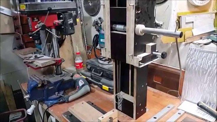 Самодельная стойка для дрели и фрезера 3