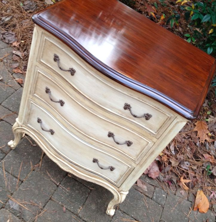 French Provincial nightstand or small chest by
