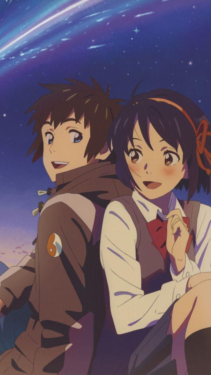 Cute Couple Mitsuha Miyamizu Taki Tachibana 720x1280