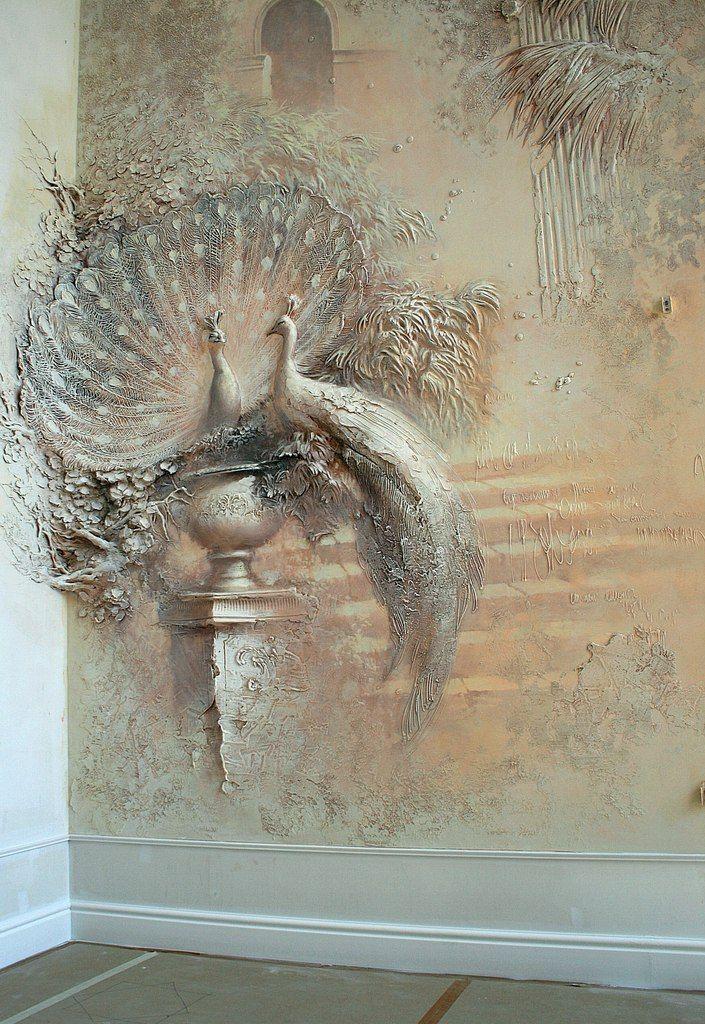 32 best drywall art images on pinterest plaster art for Plaster wall art