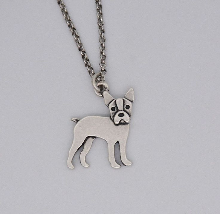 Love Boston Terriers? Show your love with this Silver Boston Terrier Necklace! - Material: Zinc Alloy - Color: Antique Silver - Length: 18 inches