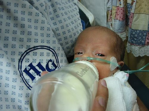 """Most expectant Mothers who intend to breastfeed their newborns are aware that giving birth in the hospital runs the risk of having your baby get a bottle of sugar water (aka """"baby crack"""") by a"""