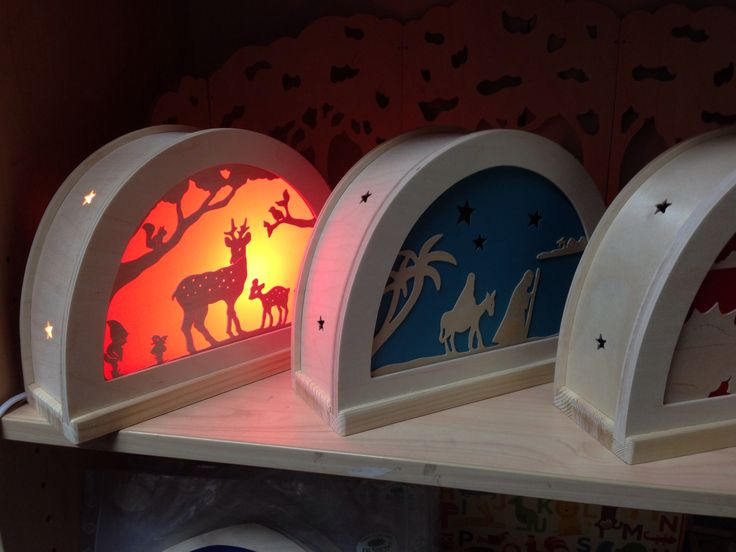 Our amazing De Noest silhouette lamps.