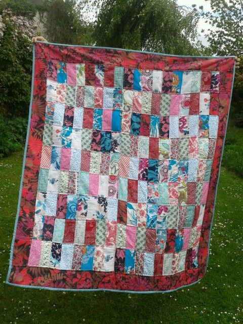 made this scrappy quilt for one of my friends
