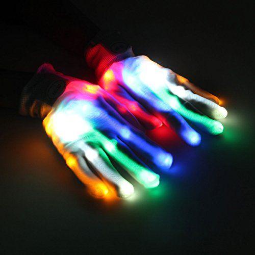 Menggood 2016 neue Multi-Color-LED blinkt Handschuhe Mode-Accessoire Glow Handschuhe Stage Show Props Handschuhe f�r das Weihnachtsfest , B�hnenauff�hrung, Hallowmas Party, Festival-Feier