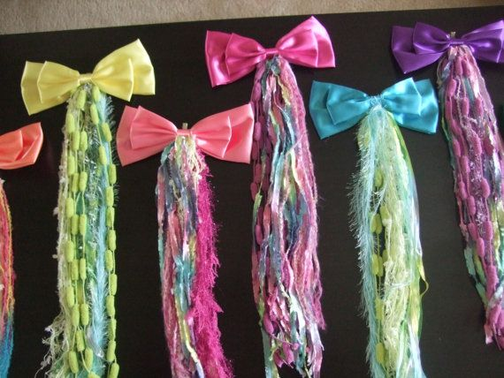 Enchanting Unicorn Tail w/ Giant Satin Bow Rainbow by kellysavard, $15.95