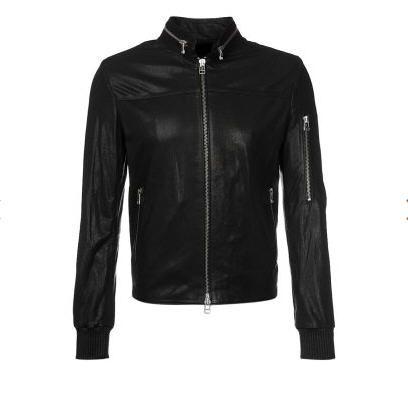 Soldes Veste homme Zalando, achat en soldes SLY 010 Veste en cuir noir prix Soldes Zalando 390.00 € TTC au lieu de 1300 €