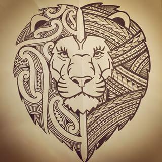 lion maori tattoo lion rasta tattoo maori emboiture tattoo leg tribal …