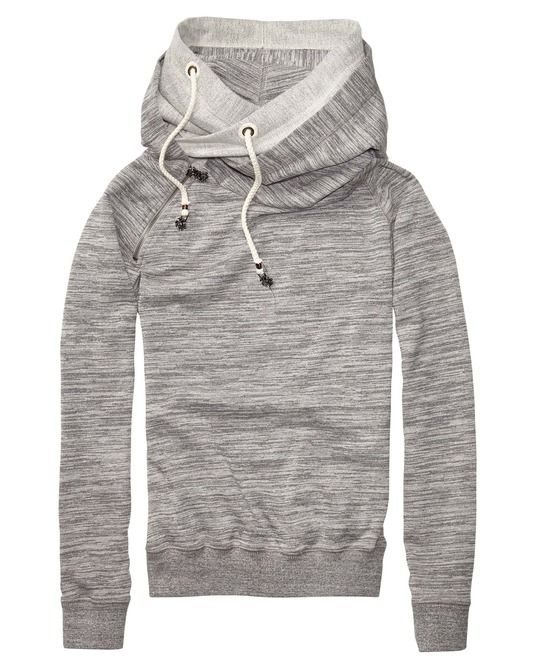 Home Alone Sweater With Double Layer Hood \u0026gt; Womens Clothing \u0026gt; Sweaters at Maison Scotch