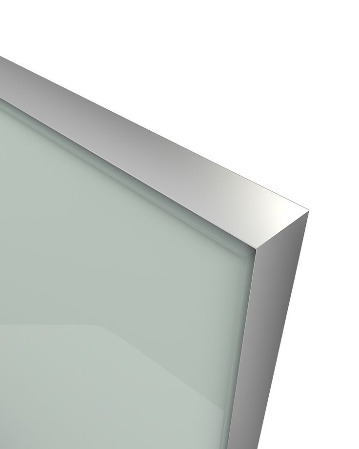 Glass Door Z-18,aluminum frame C-0, glass color Ral 7035 The Z-18 design belongs to the group of new models of glass doors. Made from an anodized aluminum frame where a colored glass is welded externally and is elegantly sharpened. Designed in parallel with the Z-21 model creating an innovative, entirely minimalistic combination. Its look , gives the compositions used, the image of an entirely glass made construction without any optical influence by other materials.