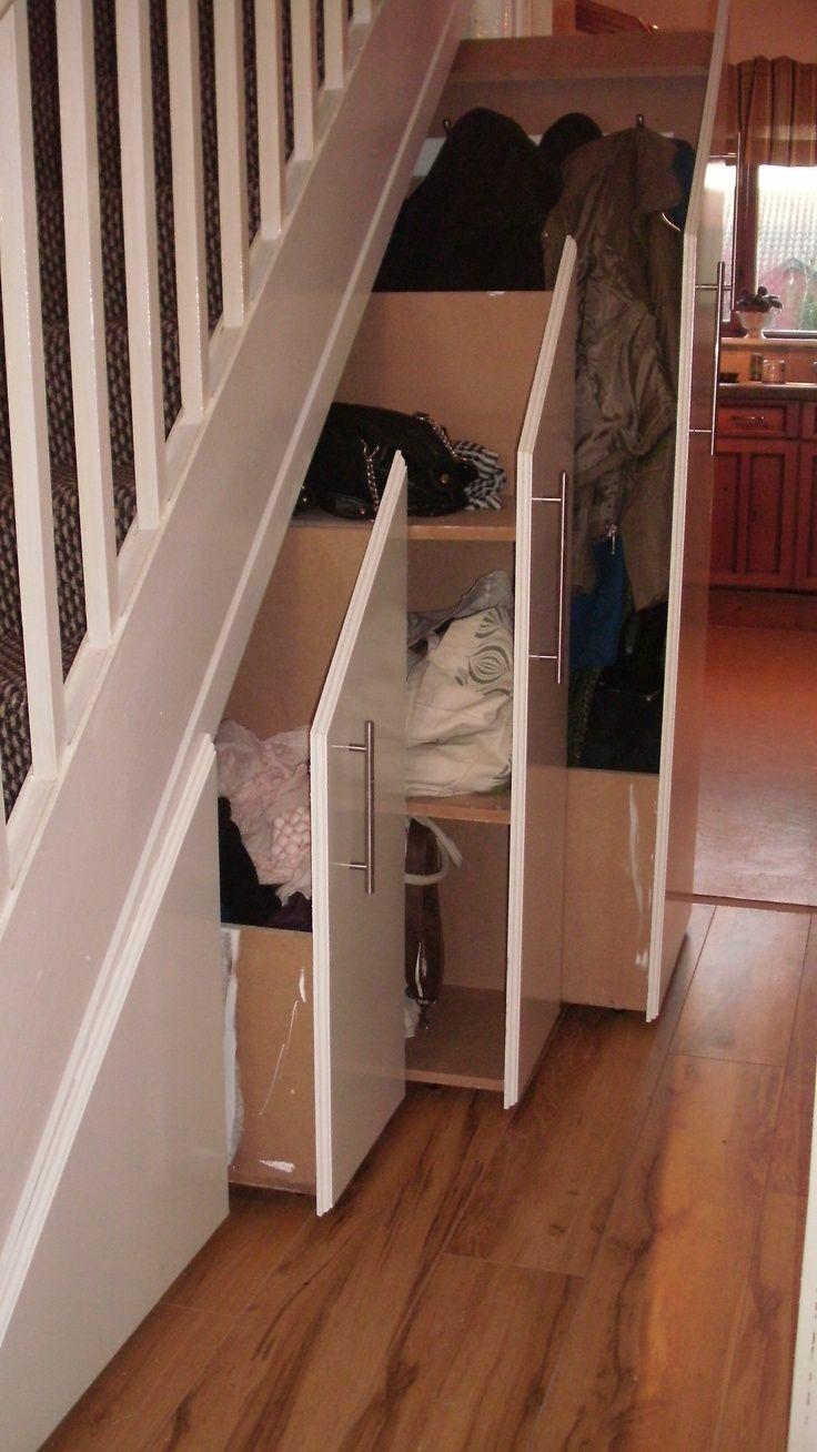 Under stairs storage.