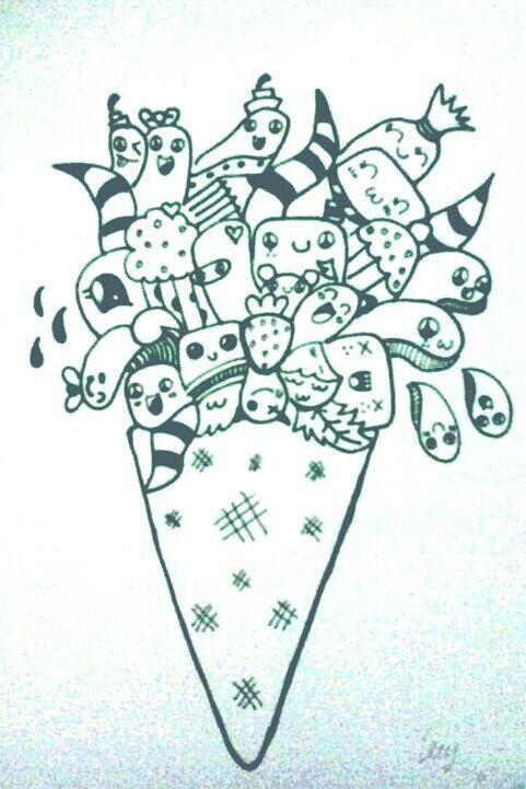 #eskrim #doodle #drawingpen #conectorpen