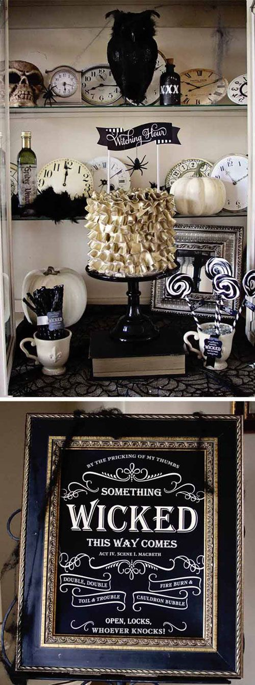Halloween Party Ideas for Adults - Halloween Table Decor Ideas                                                                                                                                                      More
