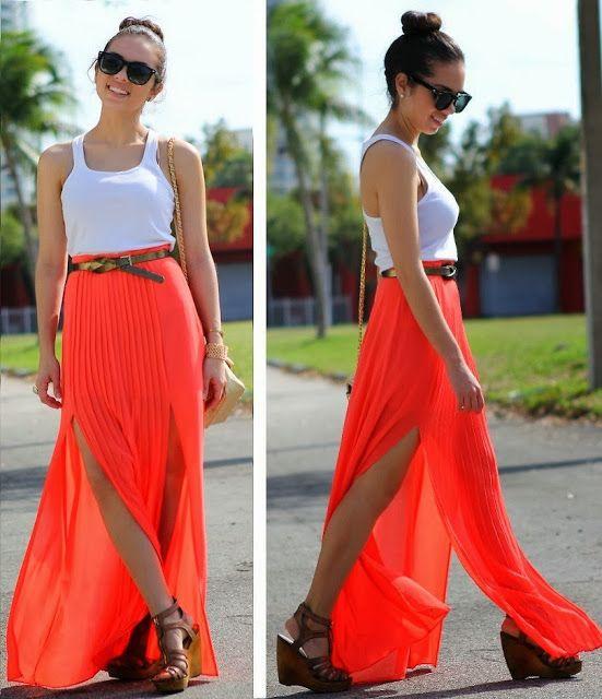 Yeni Moda Bayan Uzun Etek Modelleri