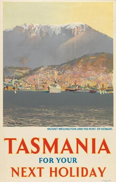 Tasmania for Your Next Holiday: Mount Wellington and the Port of Hobart. #tasmania #hobart #travel #travelposter #discovertasmania